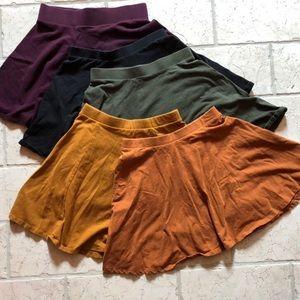XS skater / circle mini skirts